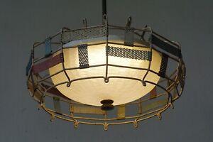 Vintage Pendant Ceiling Lamp by Mathieu Mategot 1950