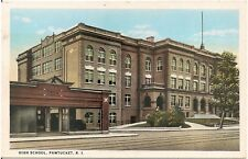 High School in Pawtucket RI Postcard