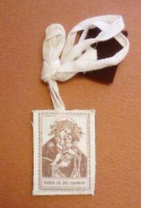 Santino scapolare incisione su stoffa Maria SS. del Carmine OFFERTA (3501)