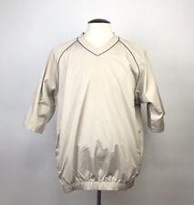 FootJoy Size Medium Short Sleeve Rain Windbreaker Pullover Jacket Tan Mens Golf