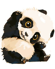 "Lovely Panda 16X20"" Paint By Number Kit Diy Acrylic Painting on Canvas Spa1298"