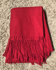NORDSTROM RED WOOL CASHMERE SCARF