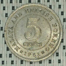 *GOOD Grade* 1961 - Malaya - 5 Cents Elizabeth II #CBTZ
