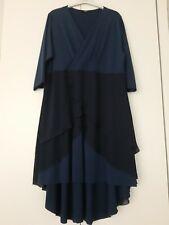 Gr.46/48 Stretch Kleid schwarz blau  Abendkleid Kleid Keyra