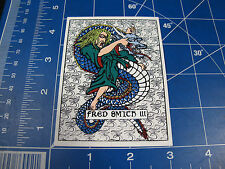 vtg 1980s Alva skateboard sticker Fred Smith III Dragon