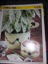 Plastic Canvas Floral Trio pattern