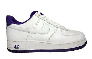 Nike Air Force 1 '07 2 White Voltage Purple CJ1380-100 Men's Size 9 No Insoles
