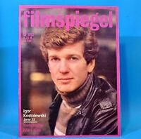 DDR Filmspiegel 8/1982 Mari Kiss Alain Delon Brigitte Fossey Kaspar Bellota K