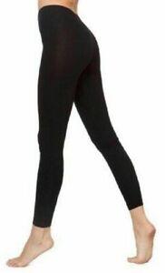 Ladies Plain All Black Stretchy New Viscose Full Length Leggings