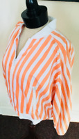 80's Vintage Orange White Striped Cropped Jacket