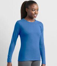 Gildan Ladies Performance Long Sleeve T-Shirt Sleeves Top Tee Womens Blank New