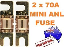 2 x 70AMP Mini ANL Fuse for Car Amplifier Wiring Kit Fuse Holders 70A - Midi AFC