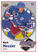 09/10 UPPER DECK HOCKEY HEROES MARK MESSIER RANGERS #HH26 *9063