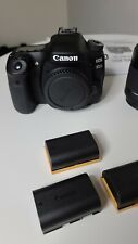 *New Canon EOS 80D camera W/O box.  Includes 2 extra batteries total of 3