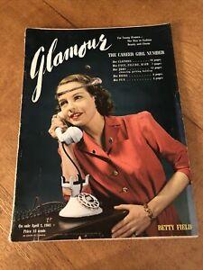 Vintage Glamour Magazine April 1941 Women's Glamour, Fashion