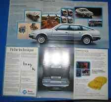 N°4004 bis / dépliant berline ROVER 2600-3500 texte français 2/79