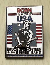 BRUCE SPRINGSTEEN BORN IN THE USA SOUVENIR ENAMEL PIN BADGE - VERY RARE