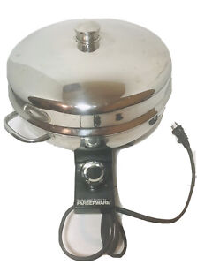 Farberware Electric Skillet Model 344A Aluminum Clad Stainless Vintage With Cord