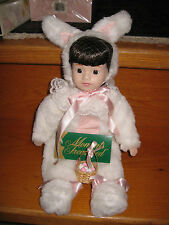 "BRAND NEW MOMENTS TREASURED 15"" Porcelain Doll**APRIL**in BUNNY COSTUME~*EASTER*"