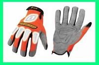 Ironclad Orange Synthetic Leather Safety Gloves Reflective Medium Large XLarge