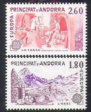 Andorra 1983 EUROPA/Ovini/AGRICOLTURA/Formaggio/FORGE/Fabbro Set 2v (n36475)