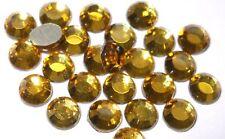 144 ss6 Oro termoadhesivos Hot-Fix Diamante Cristales Perlas