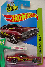 Case K 2014 i Hot Wheels '71 PLYMOUTH ROAD RUNNER 1971 #244~Maroon-Plum AcCel