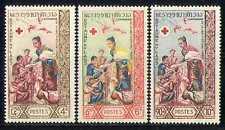 Laos 1963 Red Cross/Medical/Health/Royalty 3v (n27722)