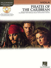 PIRATES OF THE CARIBBEAN Music Book & CD for VIOLA NEW