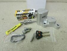 VICTORY MOTORCYCLE ROADLOK DISK LOCK ANTI THEFT SYSTEM CLEAR ANODIZE 370-8206