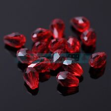 Teardrop Faceted Crystal Glass Loose Spacer Beads Wholesale 5mm 12mm 14mm 18mm