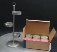 New Party Lite Tealight Candle Holder with 12 Spring Renewel Tealight Sampler
