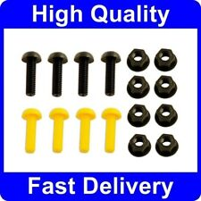 Black & Yellow Plastic Nylon Number Plate Nuts & Bolts Fixings Fittings Screws