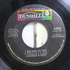 Rock Nm! 45 Cashman & West - I Belong To You / American City Suite On Dunhill
