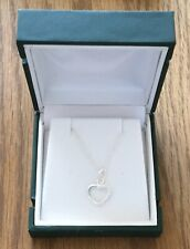 Chappell Sterling Silver 925 Heart Necklace with Cubic Zircronia
