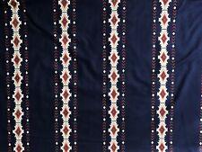algodón edredón Tejido SUDOESTE rayas azul marino Cranston Impreso bthy
