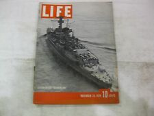 Life Magazine November 20th 1939 German Raider Deutschland Published Time  mg106