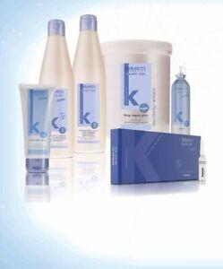 SALERM KERATIN KIT Shot Shampoo Serum Straigthener Cream 2Deep Impact Plus Pack