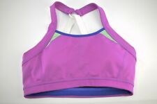Athleta Womens Purple Padded Crossback Sports Bra SZ S