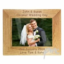 Personalised Landscape or Portrait Wooden Photo Frame 7x5 Any Text any occasion