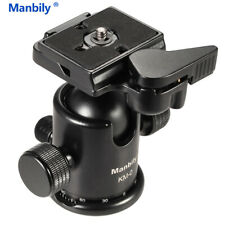 Manbily Ballhead Tripod Head Sliding Rail Head w Manfrotto 200PL-14 Clamp& Plate