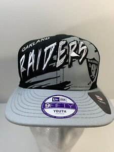 Oakland Raiders New Era Custom Splash Hat 90's Vtg NFL Youth Cap SnapBack Rare