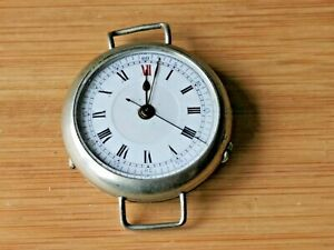 Quality Rare WW1 Doctors Sweep Seconds Trench Watch, Working, Needs Repair