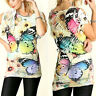 Umgee Top Size XL S M L Butterfly Sublimation Fringe Free Boho People Womens New