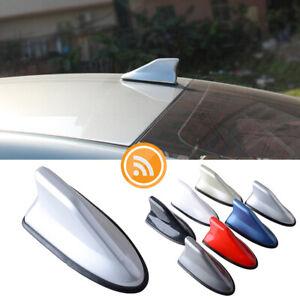 1x Silver Shark Fin Roof Antenna Radio AM/FM Signal Aerial Car Amplifier