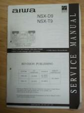 AIWA Service Manual for the NSX D9 T9 Cassette Receiver System~Repair