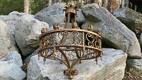 Vintage Antique Grand Gothic Arts Crafts Mission Large Chandelier 12 Light