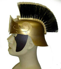 Deluxe Durable Gold Roman Centurion Gladiator Helmet With Black Brush