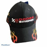 Dodge Motorsports NASCAR Adjustable Cap Hat with Flames