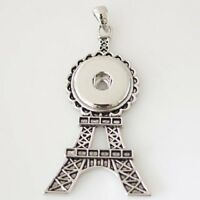Fits Ginger Snap GINGER SNAPS PENDANT Eiffel Tower Necklace Magnolia 18mm Charm
